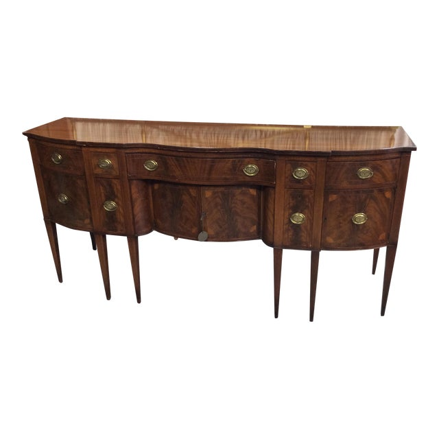 1940s Hepplewhite Style Mahogany Sideboard With Inlay For Sale