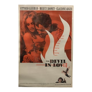 """The Devil in Love"" Vintage Movie Poster"