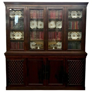 1840s English Traditional Rosewood Bookcase For Sale