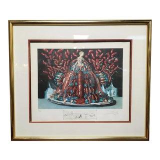 """Salvador Dali """"Les Canibalismes De L'Automne"""" Limited Edition Lithograph (#297/395) C. 1971 For Sale"""