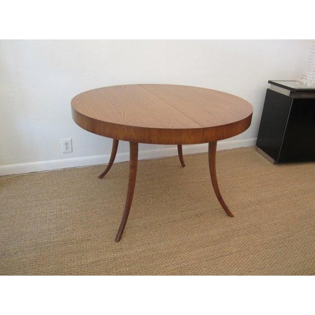 Robsjohn-Gibbings Walnut Extension Dining Table For Sale - Image 5 of 7