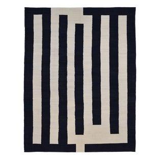 Deco Black Ivory Rug-9′11″ × 13′ For Sale