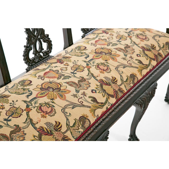 Brown Mid 19th Century Ribbon Backed Chippendale Settee For Sale - Image 8 of 9