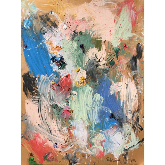 'Et Moi' Abstract Oil Painting by Sean Kratzert For Sale