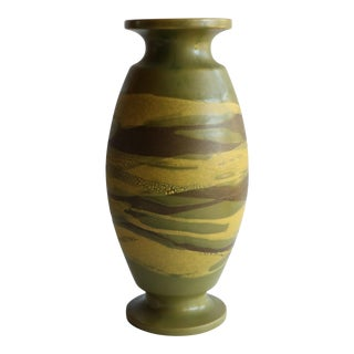 Haeger Earth Wrap Vase in Green For Sale