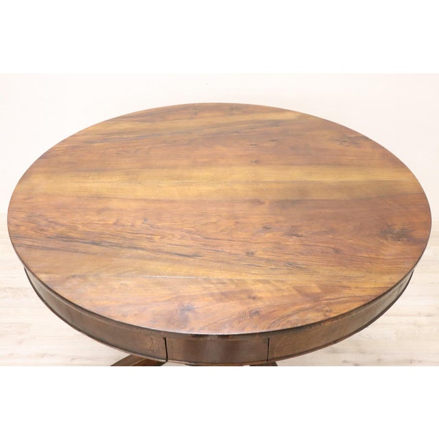 19th Century Empire Walnut Round Centre Table For Sale - Image 6 of 12