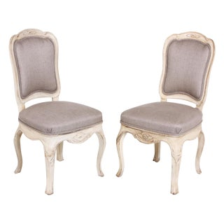 18th Century Swedish Baroque Side Chairs - A Pair