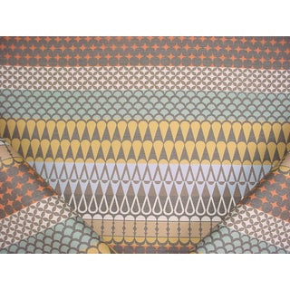 3-1/8y Brentano 5803 Majalis Cloves Outdoor Geometric Ikat Upholstery Fabric For Sale
