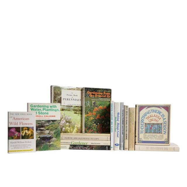 Vintage Garden Dust Jacket Book Set, S/15 Custom Set For Sale