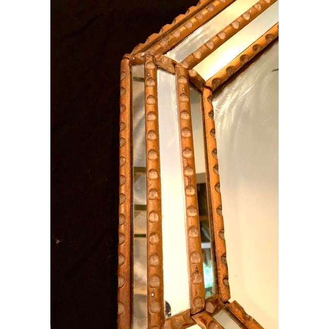 Italian Mid-Century Beaded and Beveled Octagonal Wall Mirror For Sale In New York - Image 6 of 10