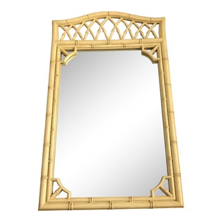 Chinoiserie Faux Bamboo Hollywood Regency Mirror For Sale