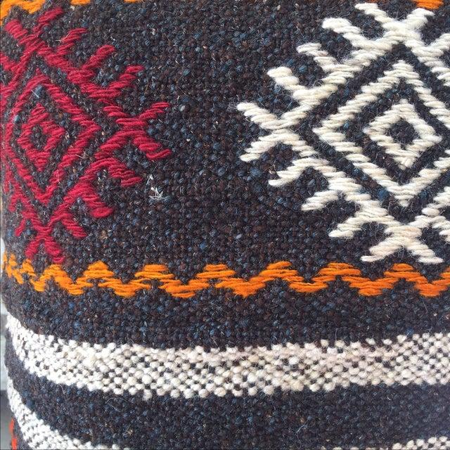 Boho Chic Vintage Turkish Kilim Pillow Case For Sale - Image 3 of 4