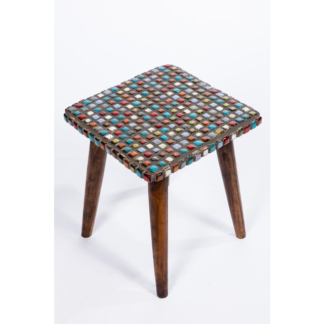 Tiled Teak Side Tables - A Pair - Image 5 of 6