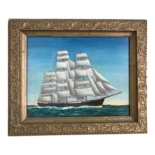 Early American Ship #2 Painting For Sale