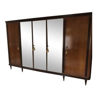 Wardrobe Armoire With Decorative Mirror Doors With Locks For Sale