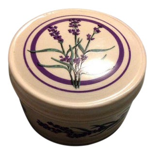 Vintage Lavender Ceramic Trinket Box