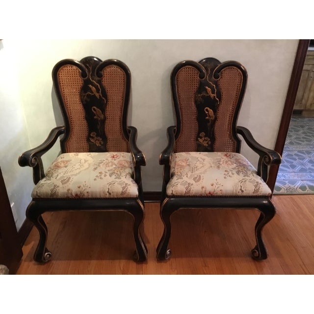 Vintage Chinoiserie Dining Chairs - Set of 10 For Sale - Image 12 of 12