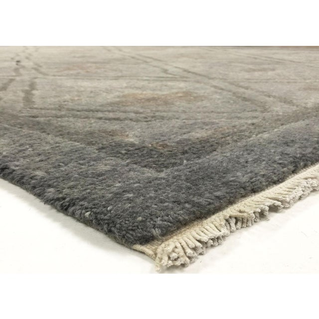 Vintage Tibetan Overdyed Rug. Hand woven with wool on Cotton foundation in Tibet. Refinished and Overdyed in the USA....