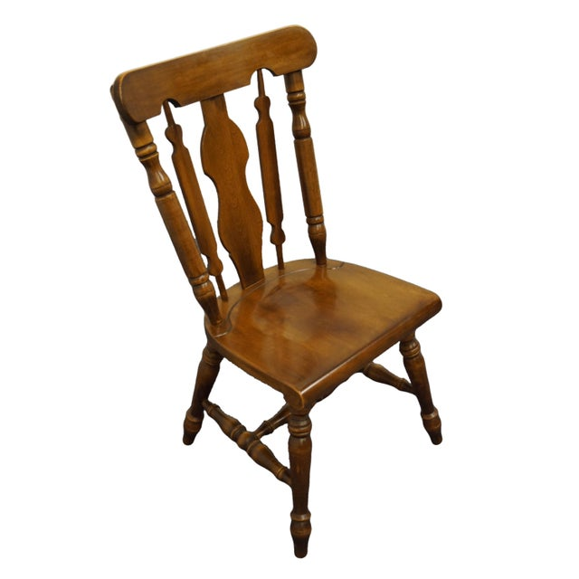 "TEMPLE STUART Solid Hard Rock Maple Colonial Style Splat Back Dining Side Chair 814 38"" High 21"" Wide 23"" Deep Seat: 17.5""..."
