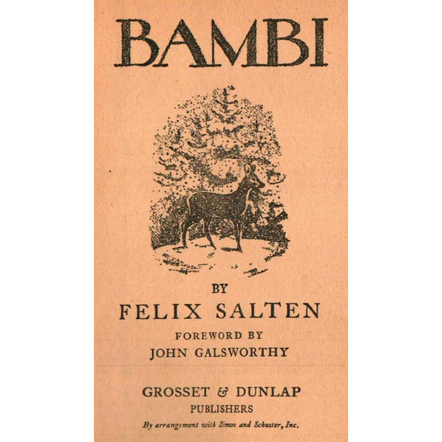 """Traditional 1929 """"Bambi"""" Collectible Book For Sale - Image 3 of 6"""