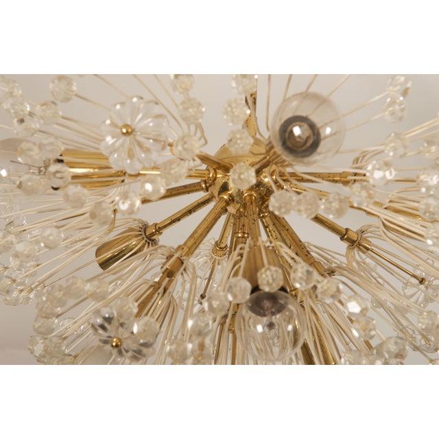 Metal Impressive Emil Stejnar Brass and Glass Sputnik Snowball Chandelier For Sale - Image 7 of 9