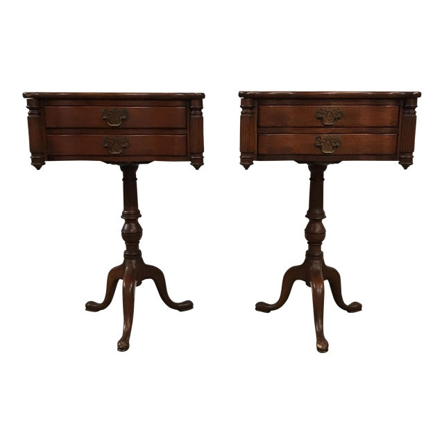 Duncan Fyfe Style Library Tables - A Pair For Sale