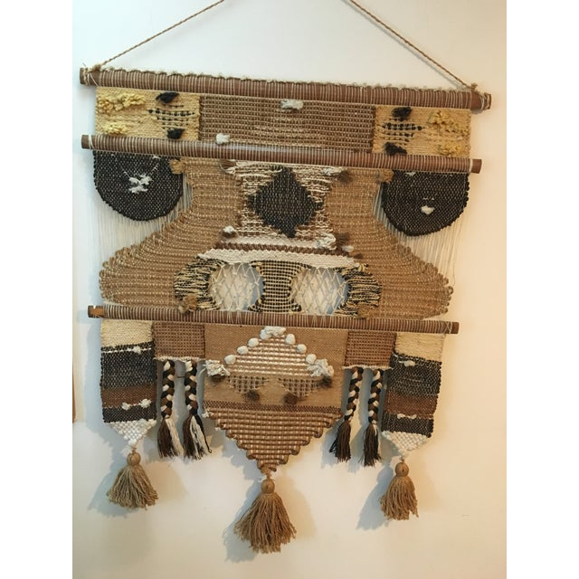 Boho Chic Don Freedman Macrame Wall Hanging For Sale - Image 3 of 11