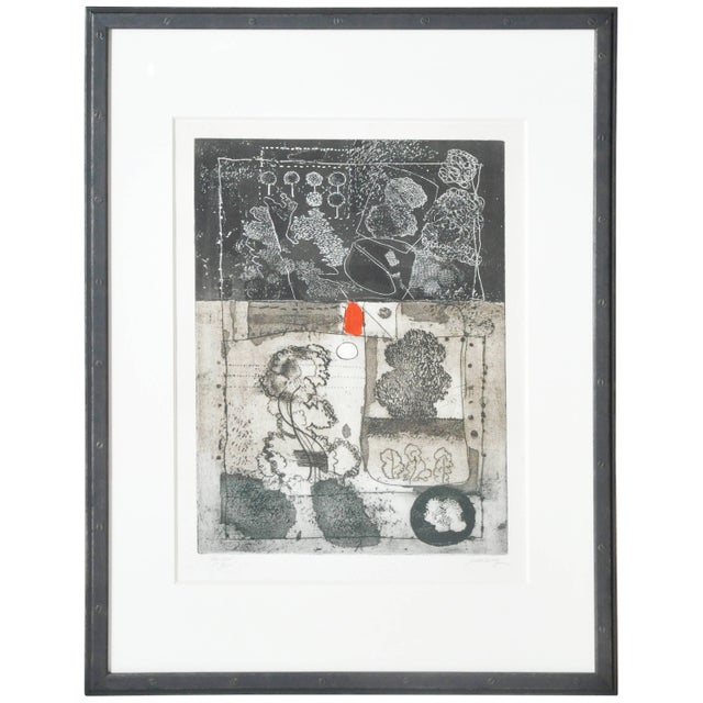 Mid-Century French Etching Untitled, Numbered and Signed For Sale - Image 9 of 9