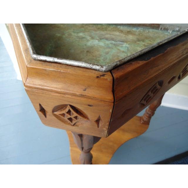 Gothic Style Oak Triangular Planter - Image 7 of 7