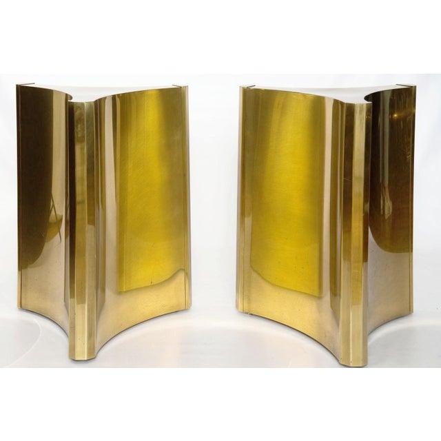 Brass MASTERCRAFT BRASS TRILOBI DINING TABLE BASES For Sale - Image 7 of 8