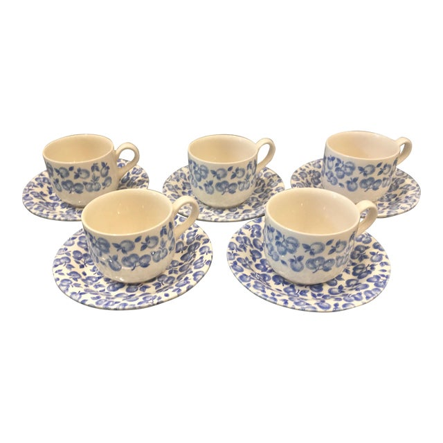 Vintage Eit Ltd. Ironstone Demitasse Cups & Matching Saucers With ...