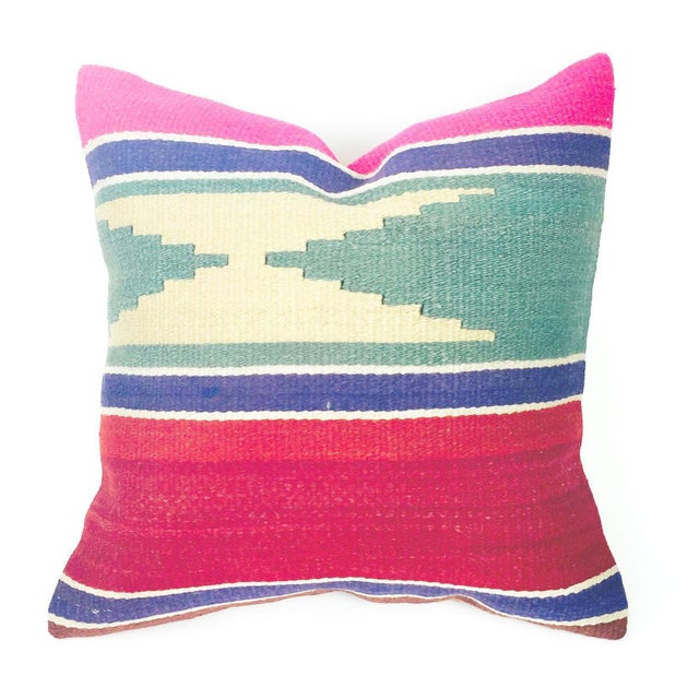 Vintage Square Kilim Pillowcase - Image 1 of 4