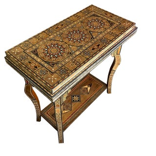 Syrian Hand Crafted Folding Game Table For Sale