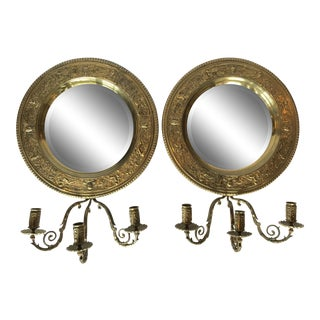 19th Century English Candle Sconces - a Pair For Sale