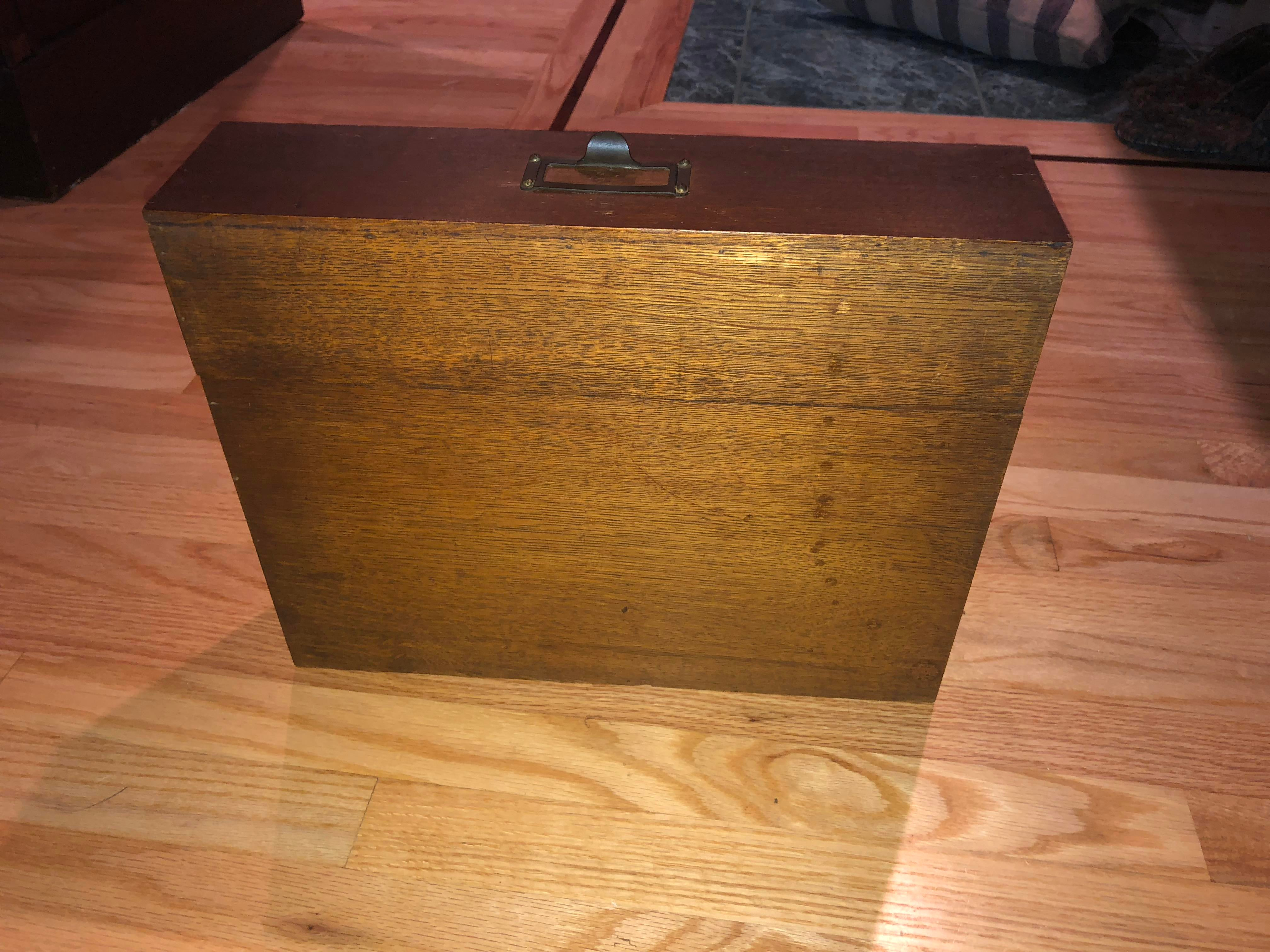 Antique Oak San Francisco City Tax Filing Cabinet   Image 7 Of 11