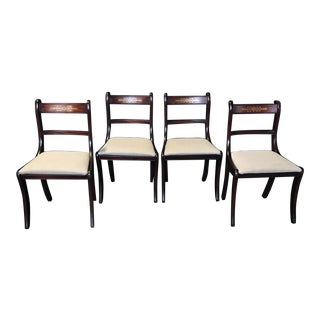 Early 19th Century Regency Dining Chairs- Set of 4 For Sale