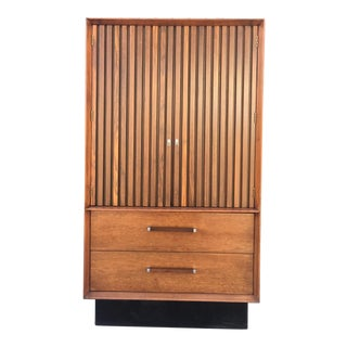 Mid Century Rosewood & Walnut Armoire by Lane