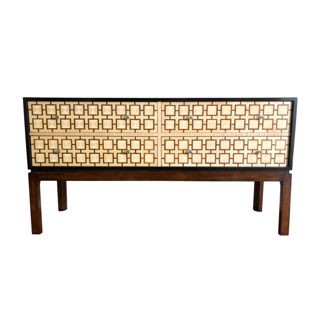 Keno Brothers for Theodore Alexander Mahogany, Fiddleback & Morado Chest For Sale - Image 13 of 13