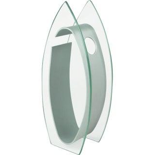 1980s Art Deco Bullet Shaped Glass Vase