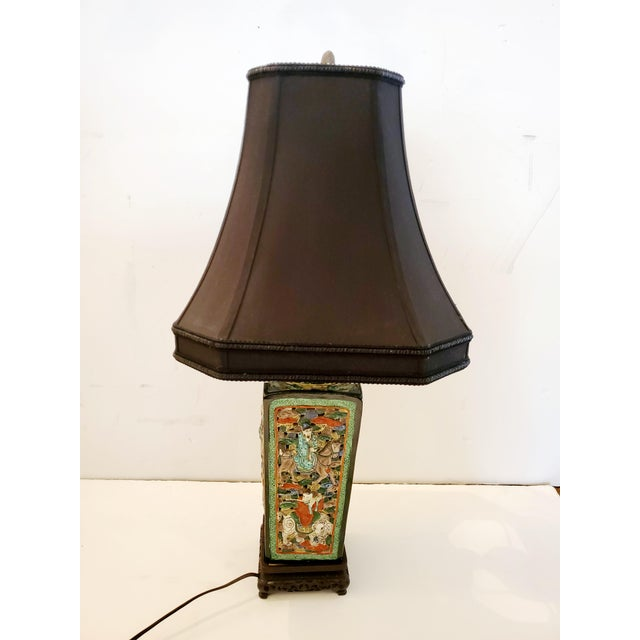 Figural Asian Table Lamp For Sale In Philadelphia - Image 6 of 8