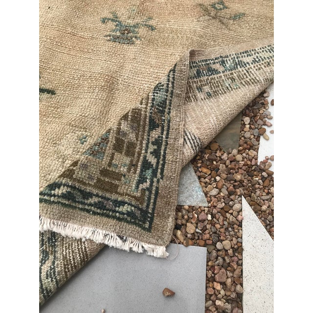 """Hand Made Vintage Turkish Area Rug- 3'3""""x4'2' For Sale - Image 9 of 10"""