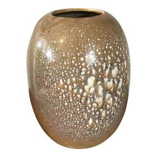 1980s Vintage Villeroy & Boch Pottery Beige Vase For Sale