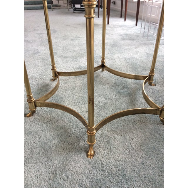 Vintage La Barge Octagonal Brass Side Table - Image 7 of 8