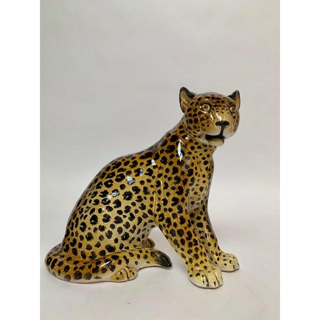 Manlio Trucco Italian Terra Cotta Large Leopard Figure For Sale - Image 11 of 11