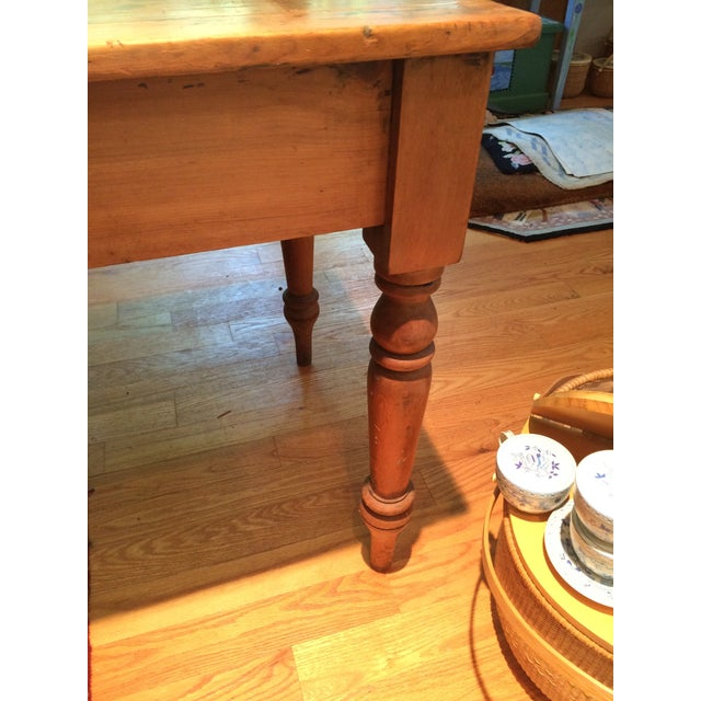 Antique Rustic Pine Console Table - Image 6 of 9