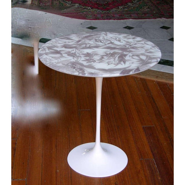 A rare vintage decorative tulip occasional table attributed to the Italian Company Ditta Steffenino in Turin. This...