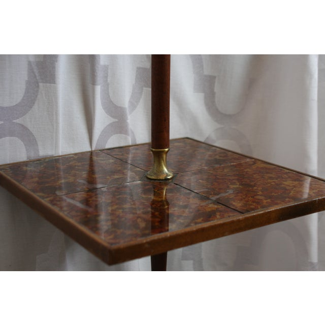 Brown Mid-Century Briard Style Side Table Floor Lamp For Sale - Image 8 of 10