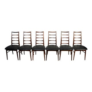 "Niels Koefoed for Koefoed Hornslet Danish Modern""Lis"" Dining Chairs- Set of 6 For Sale"