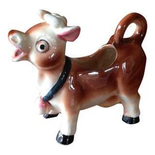Vintage Mid Century Cow Creamer For Sale