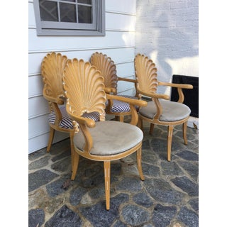 Vintage Shell Back Grotto Arm Chairs - Set of 4 Preview